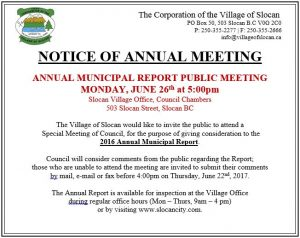 Annual Report Public Meeting 2017