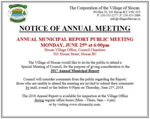 Annual Report Public Meeting 2018