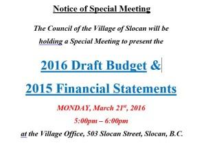 Budget Presentation March 2016