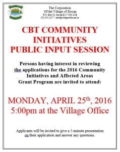 CBT Public Meeting March 2016