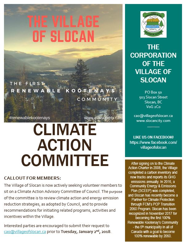 Climate Action Committee Poster SNIP