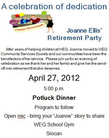 Joanne Ellis Retirement Party