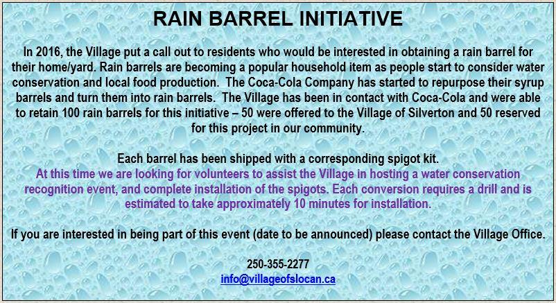 Rain Barrel Callout 2017