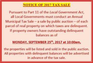 Tax sale 2017